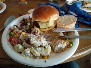 Burger maison+salade